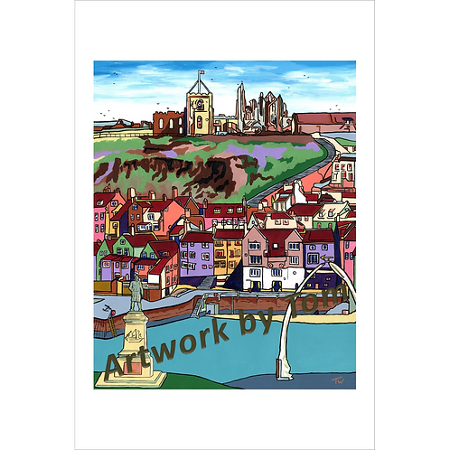 "Whitby in Summer (10""x8"")"