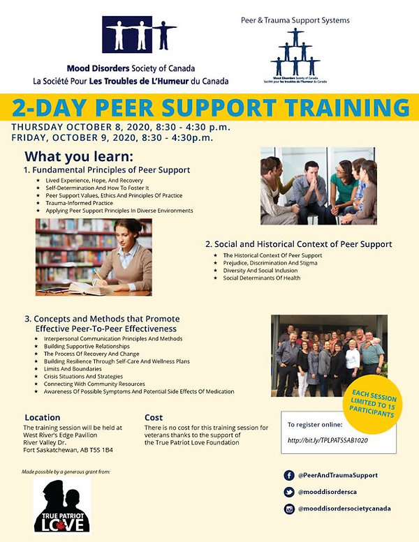 2-day peer support training poster