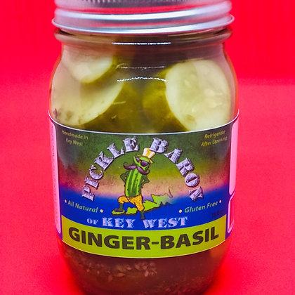 Ginger-Basil Key Lime Pickles
