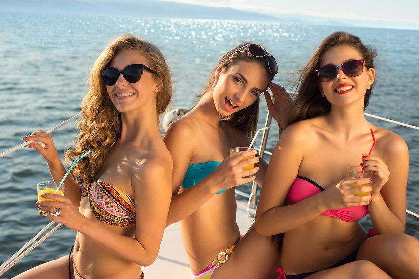 Latinas in Bahama   Latina Escorts in Bahamas relaxing on a luxury yacht