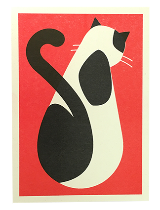 Affiche chat rouge2