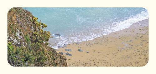 Mer vue de la falaise