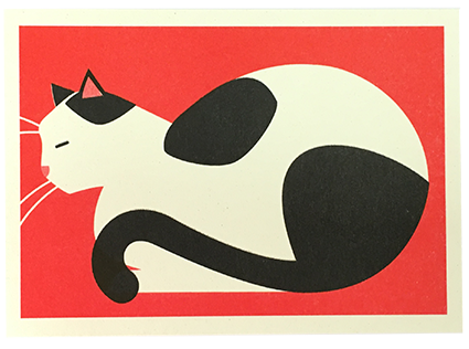 Affiche chat rouge 1