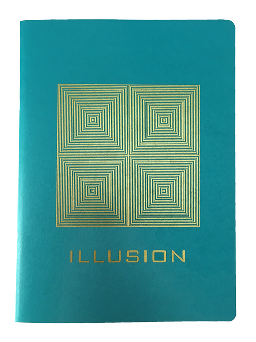 Cahier illusion vert