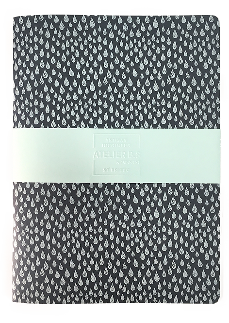 Cahier gouttes blanches