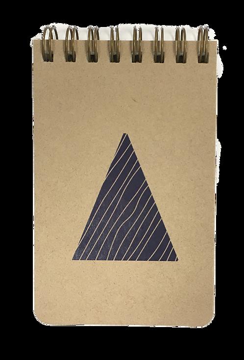 petit carnet kraft triangle
