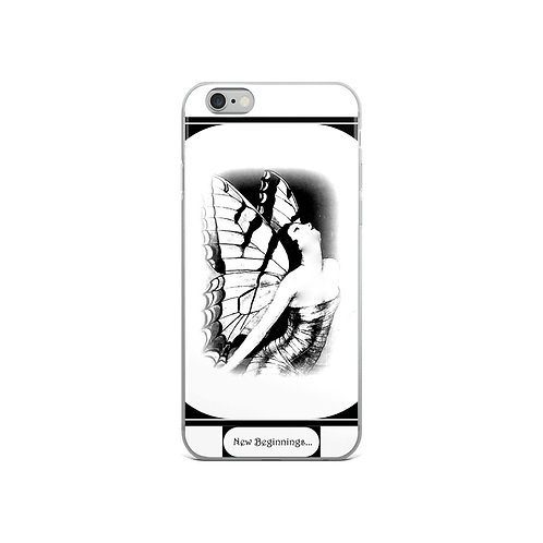 White iPhone Case New Beginnings Butterfly Spiritual Rebirth