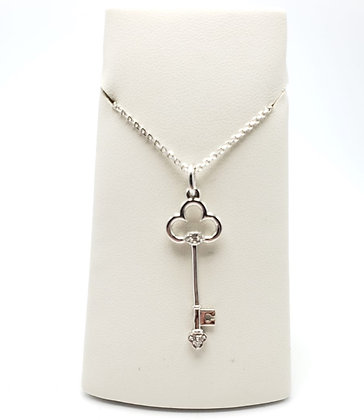 14KW Diamond Key Pendant