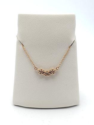 14KR Diamond Flower Necklace