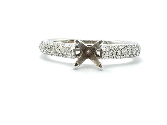 14K White Gold Diamond Remount