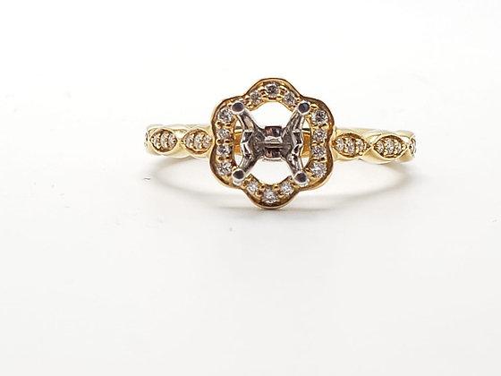 14K Yellow Gold Diamond Remount