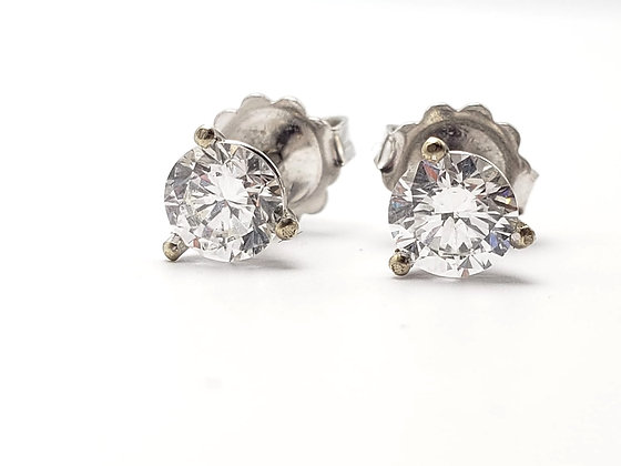 1.45CT Natural Diamond Stud Earrings