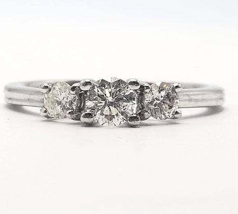 10KW Three Stone Diamond Engagement Ring