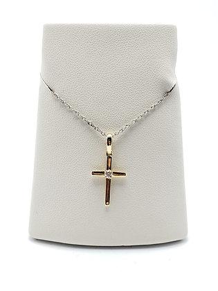 14K Small Diamond Cross