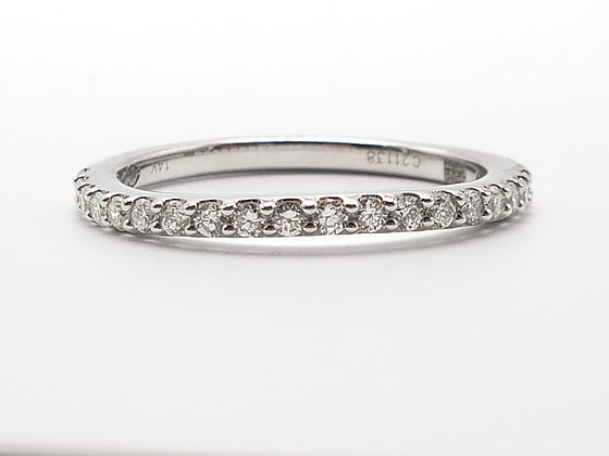 14KW Curved Diamond Wedding Band