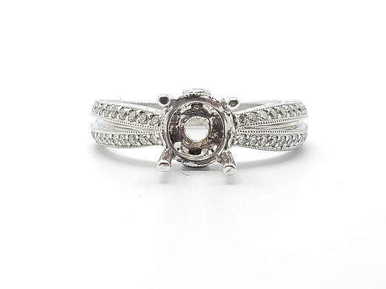 18K White Gold Diamond Remount