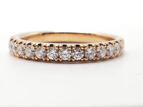 14KR Diamond Wedding Band