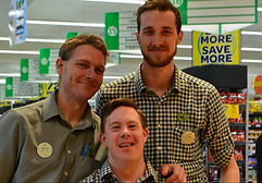 Image of - David, with workmates Andrew and Jake