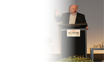 Image of - Tim Costello presenting at Belonging Matters conference