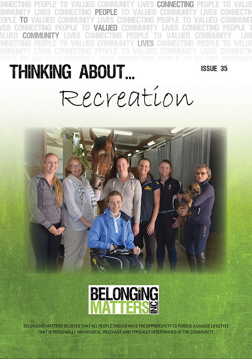 Periodical 35 - Thinking About... Recreation