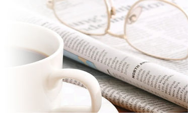 Image of - coffee, magazine and spectacles
