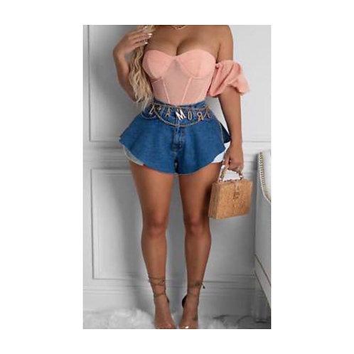 LaFlare Denim Shorts