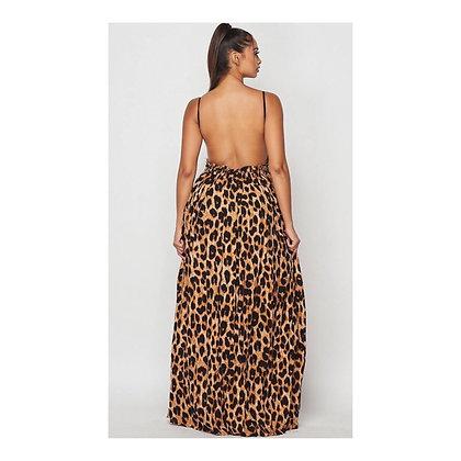 Cheetah Flows Maxi Dress