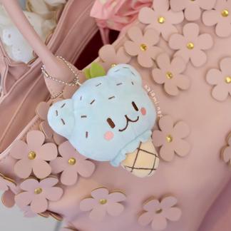 Mint Bear Keychain