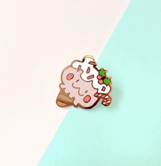 Peppermint Bear Enamel Pin
