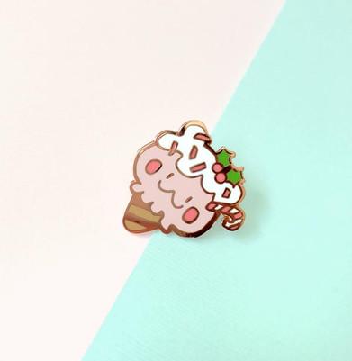 Peppermint Bear Enamel Pin