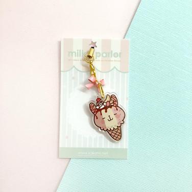Neapolitan Bunny Keychain