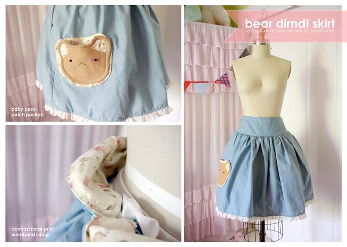 Bear Dirndl Skirt