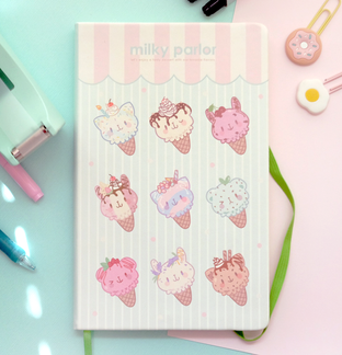 Milky Parlor Notebook