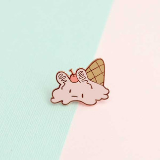 Spill Cream Enamel Pin