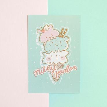 Milky Parlor Mini Print