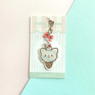 Birthday Cat Keychain