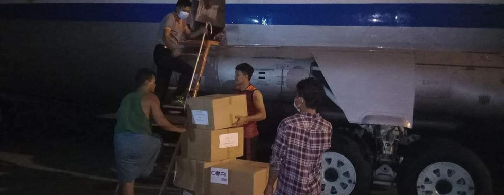 Relief materials to assist COVID-19 relief efforts in Rakhine