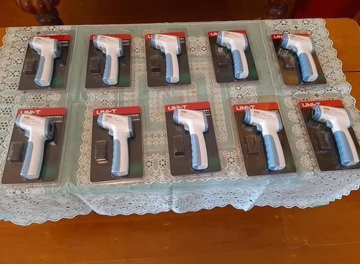 The Myanmar-Italy Friendship Giuseppe Malpeli Association donated non-contact infrared thermometers