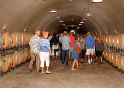 Visiting a wine cave