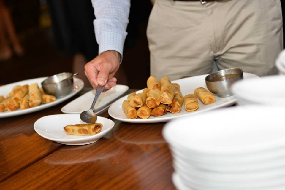 Lumpias served at a wedding