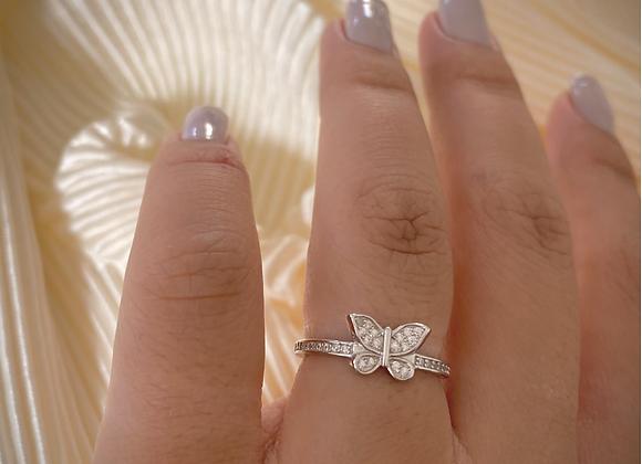 טבעת פרפר משובצת