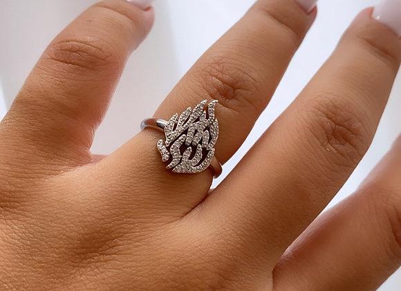 טבעת האש שלי משובצת