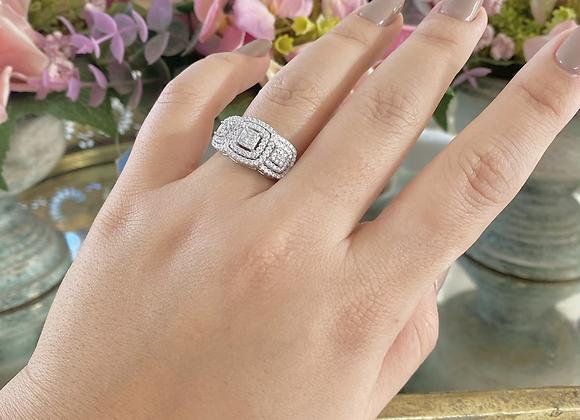 טבעת אודיה מלבנים
