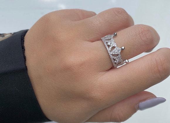 טבעת כתר מלכה