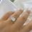 Thumbnail: טבעת כסף מלבנית קלאסית ניו