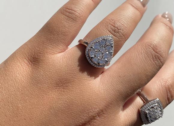 טבעת טיפה גדולה דיאנה