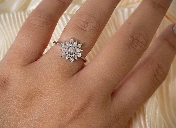 טבעת פרח בגטים
