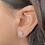 Thumbnail: עגיל כסף עיגול קלאסי