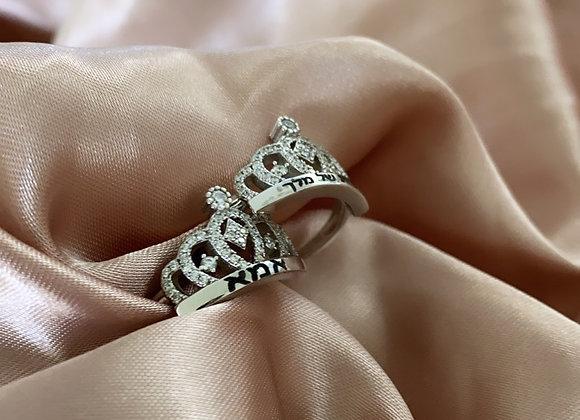 טבעת כתר חריטה אישית