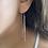 Thumbnail: עגילי שרשרת נופלת חרוזי לייזר